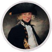Portrait Of A Young Midshipman, C.1796 Round Beach Towel