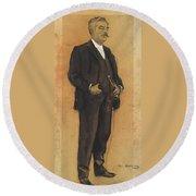 Portrait Of Arcadi Mas I Fondevila Round Beach Towel