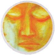 Portrait Of Buddha Round Beach Towel