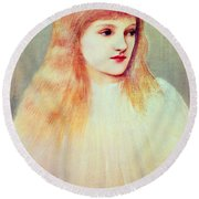 Portrait Of Cecily Horner, 1895 Round Beach Towel