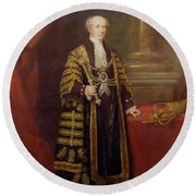 Portrait Of Colonel Sir Samuel Wilson, Lord Mayor Of London, 1838 Oil On Canvas Round Beach Towel