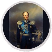 Portrait Of Count Alexander Benkendorff Round Beach Towel