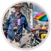 Portrait Of Doctor Luv In New Orleans Round Beach Towel