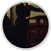 Portrait Of Eduard Gans 1829 Round Beach Towel