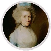Portrait Of Elizabeth Caldwell Round Beach Towel