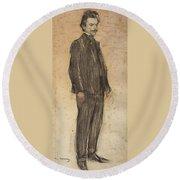 Portrait Of Enric Morera Round Beach Towel
