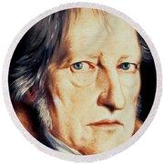 Portrait Of Georg Wilhelm Friedrich Hegel Round Beach Towel