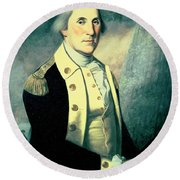 Portrait Of George Washington Round Beach Towel by James the Elder Peale