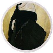 Portrait Of Ida Lvovna Rubinstein Round Beach Towel