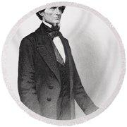 Portrait Of Jefferson Davis Round Beach Towel