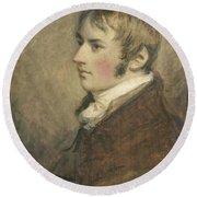 Portrait Of John Constable Aged Twenty Round Beach Towel