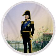 Portrait Of King William Iv Plate 14 Round Beach Towel