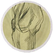 Portrait Of Ludovic Halevy Round Beach Towel