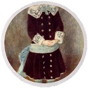 Portrait Of Martha Berard Round Beach Towel
