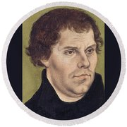 Portrait Of Martin Luther Aged 43 Round Beach Towel