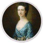 Portrait Of Mrs Clement Tudway Round Beach Towel