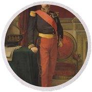 Portrait Of Napoleon IIi 1808-73 1862 Oil On Canvas Round Beach Towel
