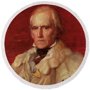 Portrait Of Stratford Canning 1786-1880, Viscount Stratford De Redcliffe 1856-7 Oil On Canvas Round Beach Towel
