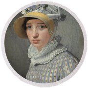Portrait Of The Model Maddalena Or Anna Maria Uhden Round Beach Towel