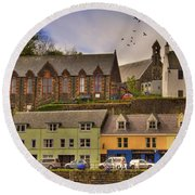 Portree. Isle Of Skye. Scotland Round Beach Towel