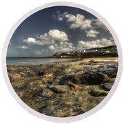 Portscatho Beach  Round Beach Towel