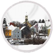 Portsmouth Waterfront Pwwc Round Beach Towel