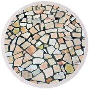 Portuguese Pavement Round Beach Towel