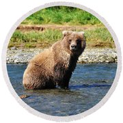 Posed Perfection Round Beach Towel