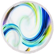 Positive Energy Round Beach Towel