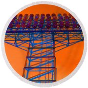Post Apocalyptic Light Tower Round Beach Towel