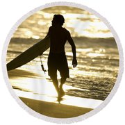 Post Surf Gold Round Beach Towel