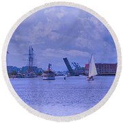 Postcard Perfection Round Beach Towel