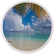 Postcard Perfection. Maldives Round Beach Towel