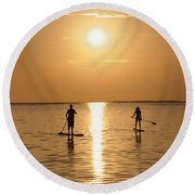 Postcards From Paradise Round Beach Towel