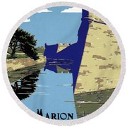 Poster National Park Round Beach Towel