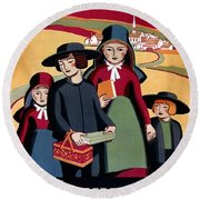 Poster Pennsylvania, C1938 Round Beach Towel