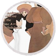 Poster Show 1896 Round Beach Towel