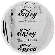 Posters Round Beach Towel