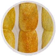Potato Chip Rows 1 Round Beach Towel