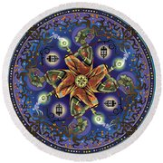 Potential Mandala Round Beach Towel by Cristina McAllister