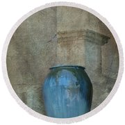 Pottery And Archways II Round Beach Towel