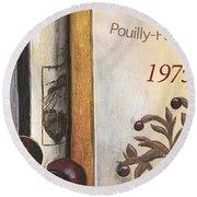 Pouilly Fume 1975 Round Beach Towel