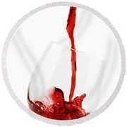 Pouring Red Wine Round Beach Towel