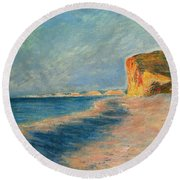 Pourville Near Dieppe Round Beach Towel