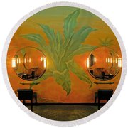 Powder Room Radio City Music Hall Round Beach Towel