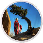 Power Of Thought 1 Round Beach Towel