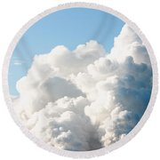 Power Station Plumes. Round Beach Towel