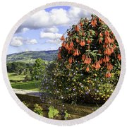 Powis Castle Terrace Round Beach Towel