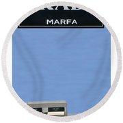 Prada Marfa Texas Round Beach Towel by Jack Pumphrey