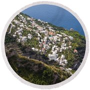 Praiano Village Round Beach Towel